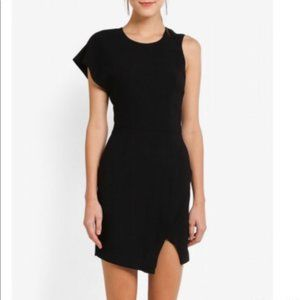 Bardot Asymmetric One Shoulder Sleeve Dress Small